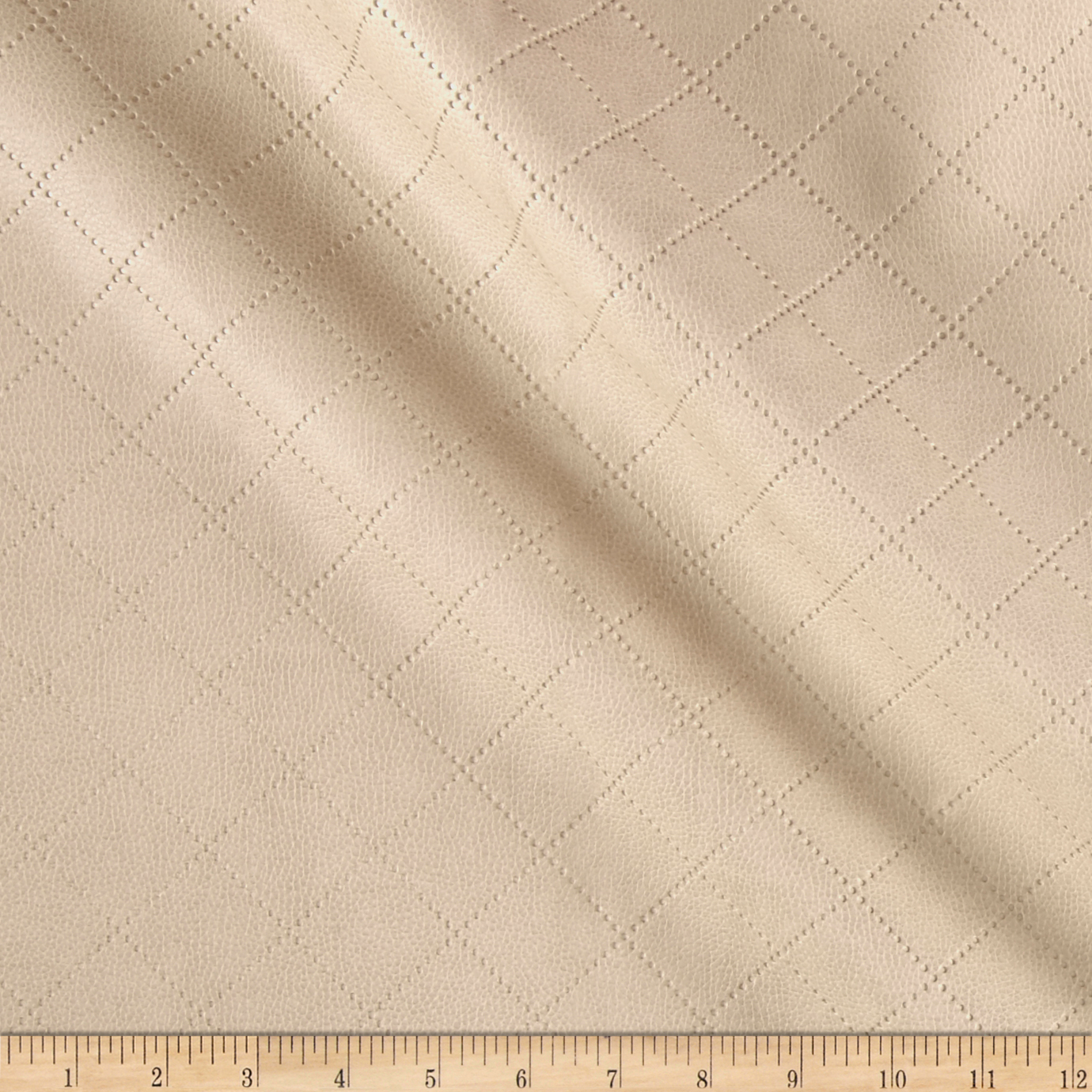 Richloom Tough Faux Leather Gorman Cream Fabric by TNT in USA