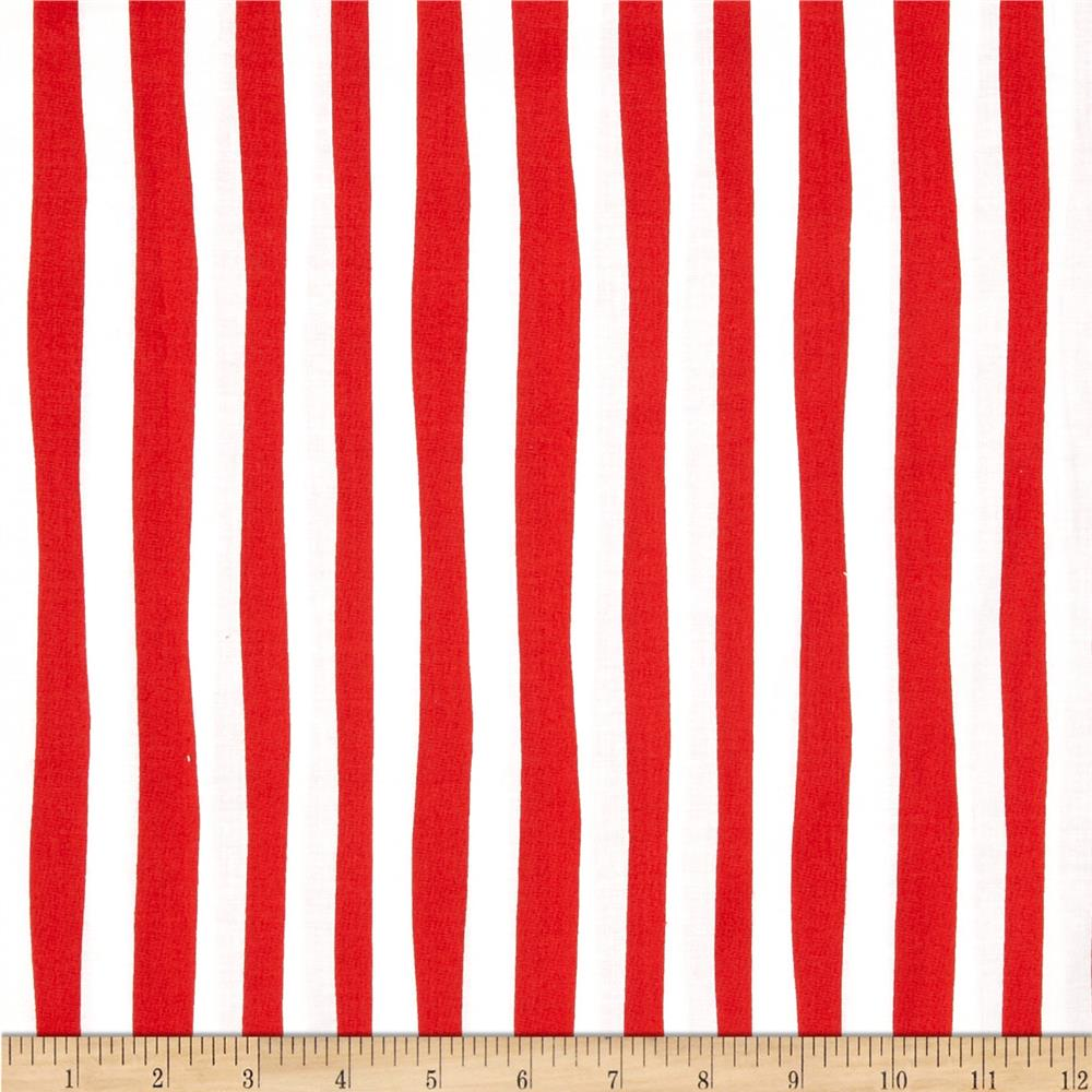 Celebrate Seuss Stripe Crimson