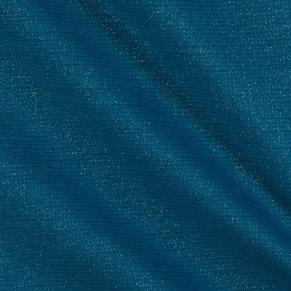 Shimmer Ponte de Roma Knit Solid Turquoise/Silver