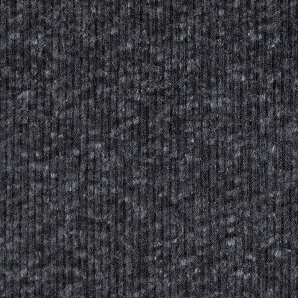 Distressed Tri-Blend Rib Knit Heather Charcoal