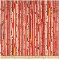 Collage Newsprint Stripe Red