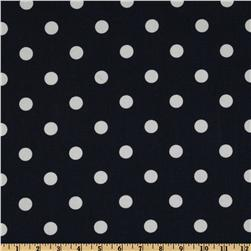 Premier Prints Polka Dots Navy Blue/White Fabric