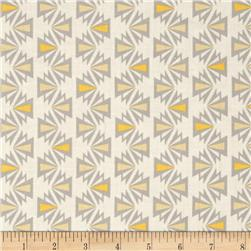 Kaufman Fragmental Aztec Stripe Sunflower