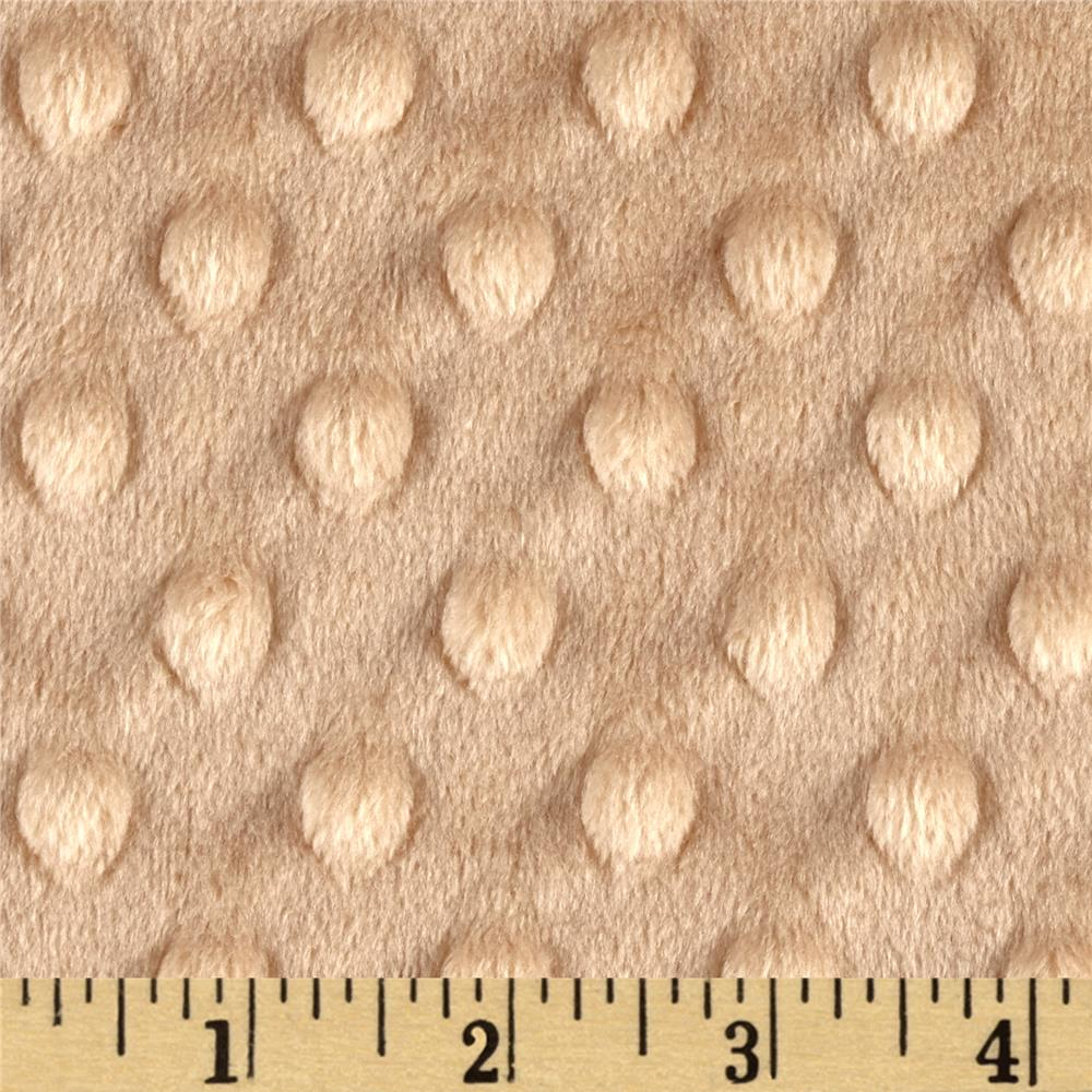 "Shannon Minky Cuddle Dimple Dot 90"" Camel"