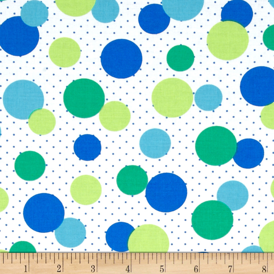 Dots Right Circle Dot Blue Fabric