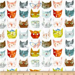 Smarty Cats Faces White