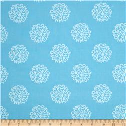 Animal ABCs Medium Toss Organic Cotton Light Sky