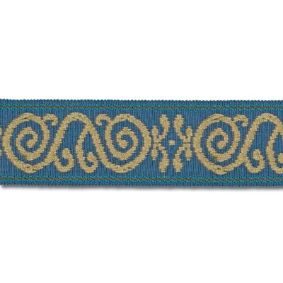 Mount Vernon 2'' Ornament Trim Cobalt