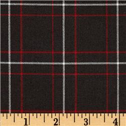 Yarn Dyed Plaid Suiting Brown/Red