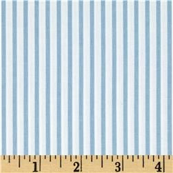 Kaufman Sevenberry Petite Basics Mini Stripe Blue