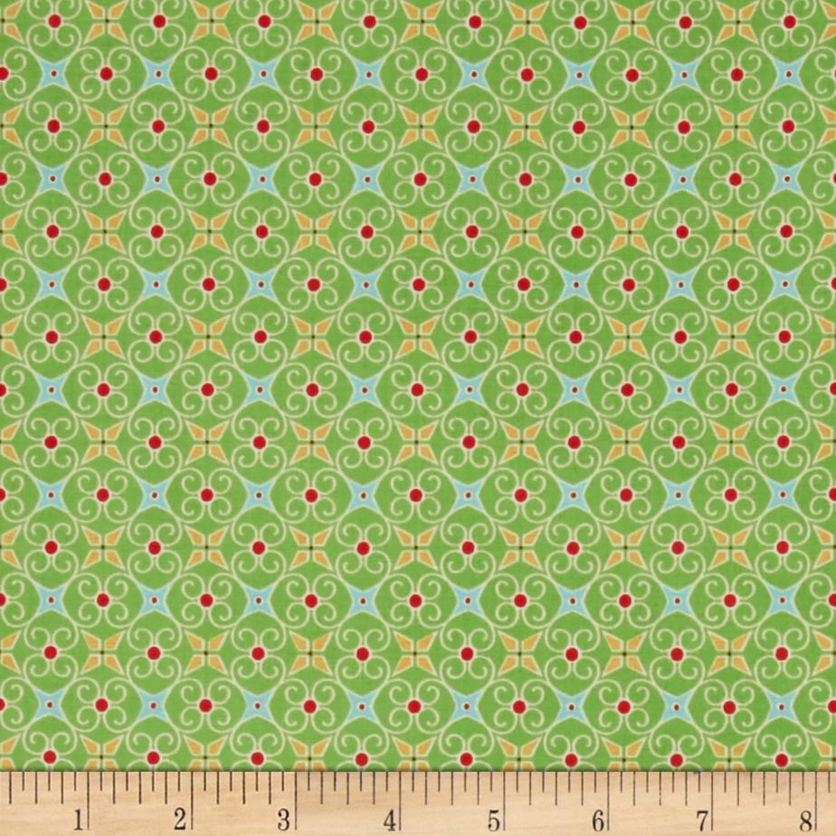 Riley Blake Cozy Christmas Wrapping Paper Green