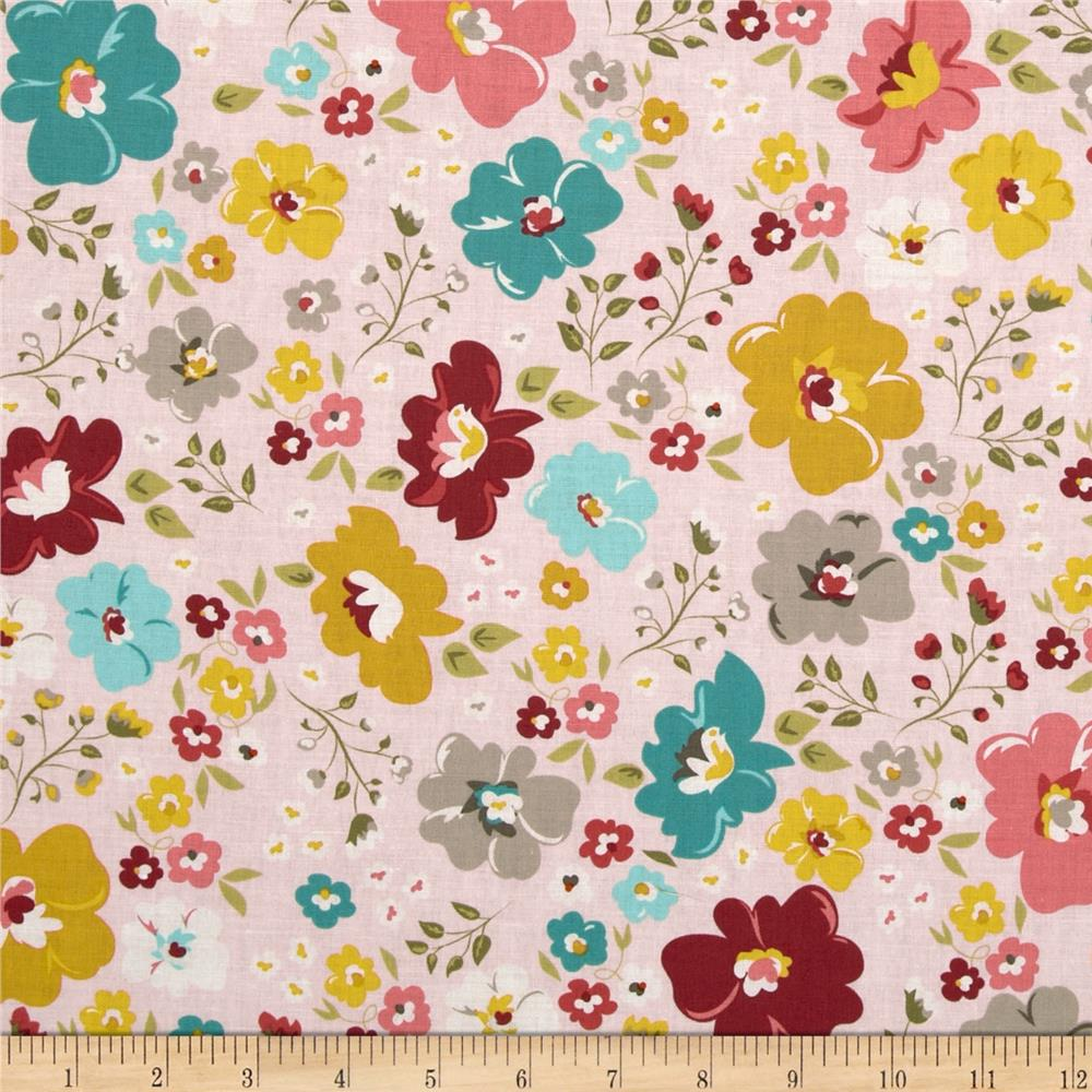 Riley Blake Unforgettable Large Floral Pink