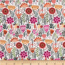Wild Field Mini Fern Floral Multi Fabric