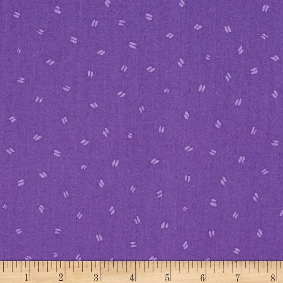 Susybee Bird Footprints Purple
