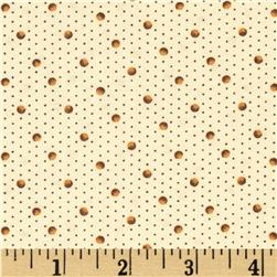Birds of a Feather Shaded Dots Ivory/Brown