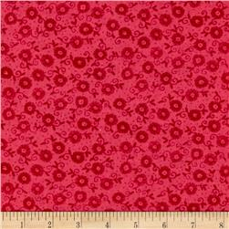Small Scroll Flower Pink