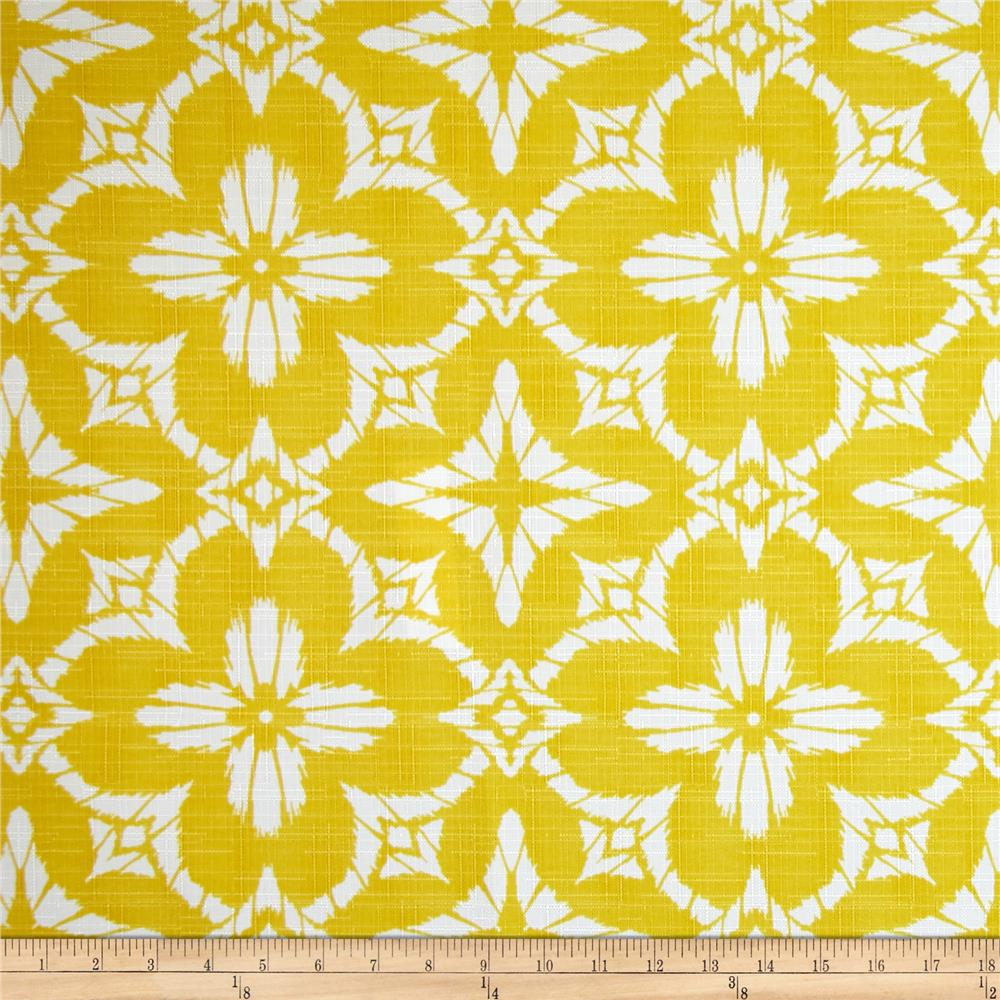 Richloom indoor outdoor aspidoras soleil yellow discount for Outdoor fabric