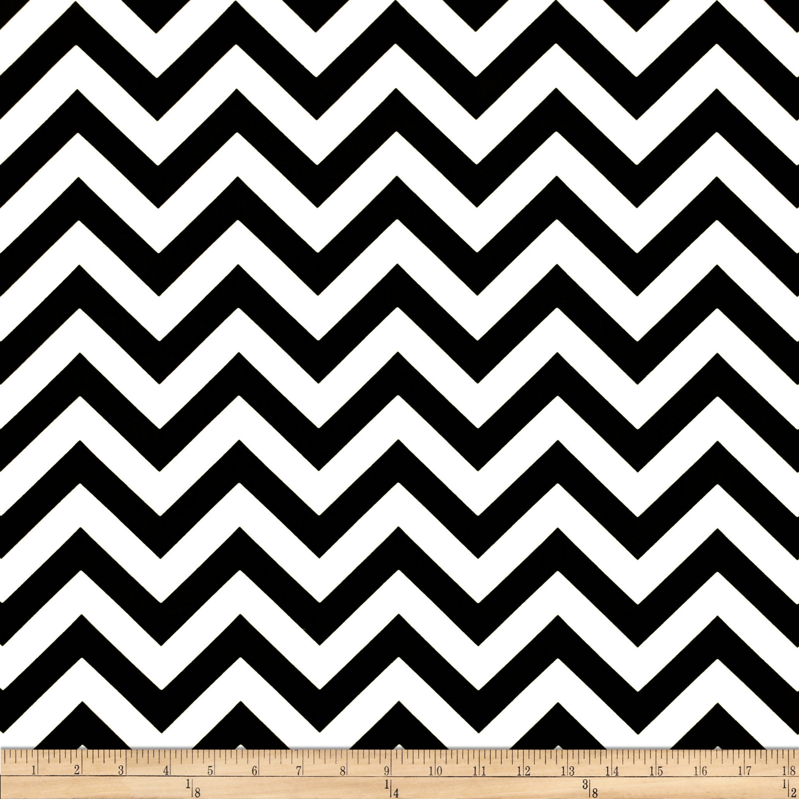 Premier Prints Indoor/Outdoor Zig Zag Black Fabric