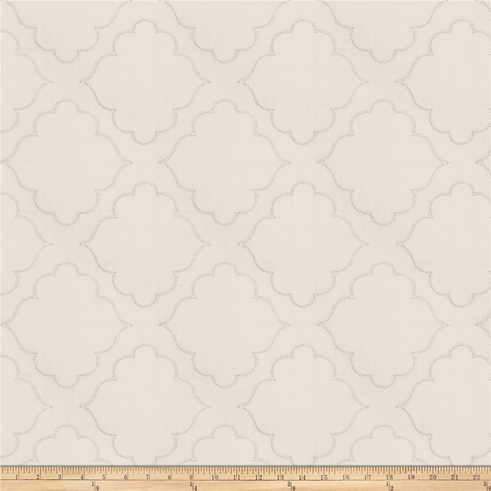 Fabricut Horus Medallion Embroidered Grey