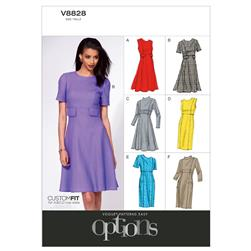 Vogue Misses' Dress Pattern V8828 Size A50