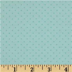 Cotton Tale Flannel Pin Dot Aqua