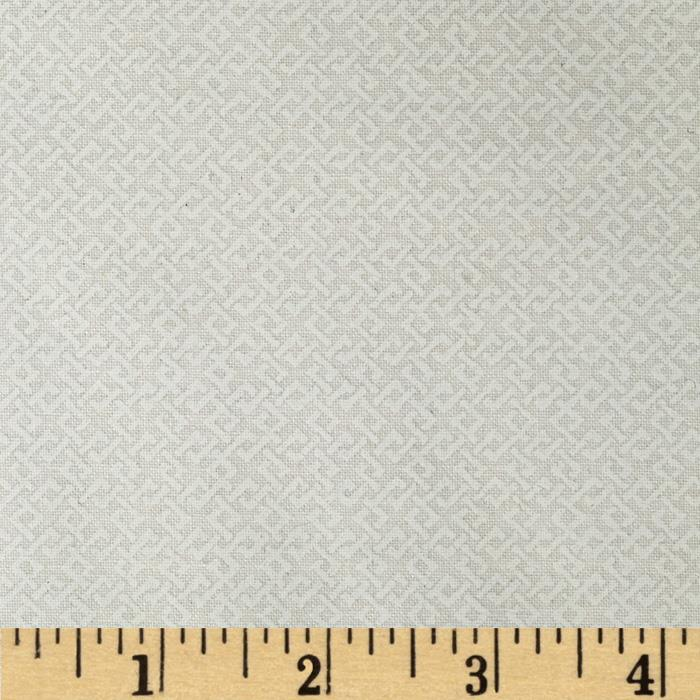 "108"" Wide Essentials Quilt Backing Criss Cross White on White"