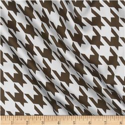 Satin Charmeuse Houndstooth White/Mocha
