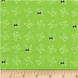 Michael Miller Front Yard  Bowtie Bunny Grass