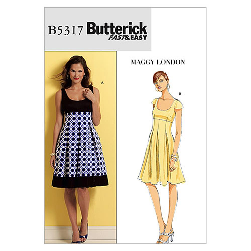 Butterick Misses' Dress Pattern B5317 Size BB0