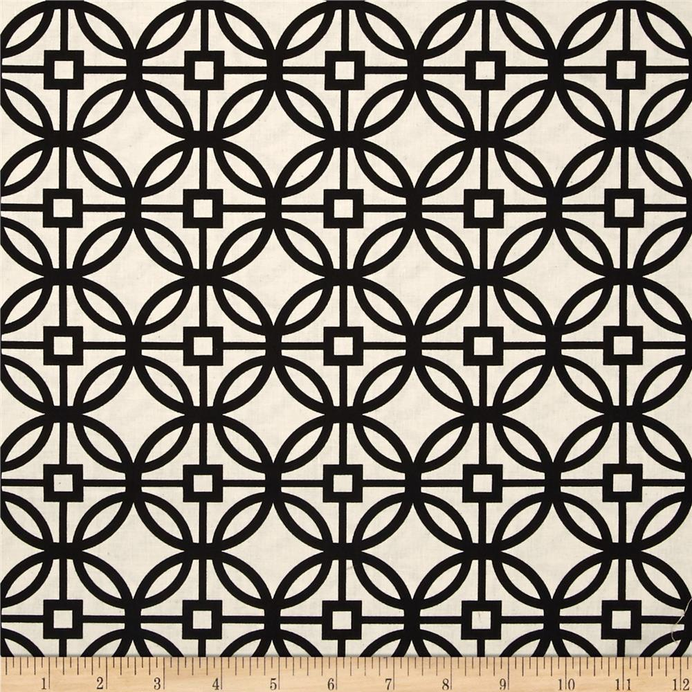 Heirloom Unbleached Trellis Black
