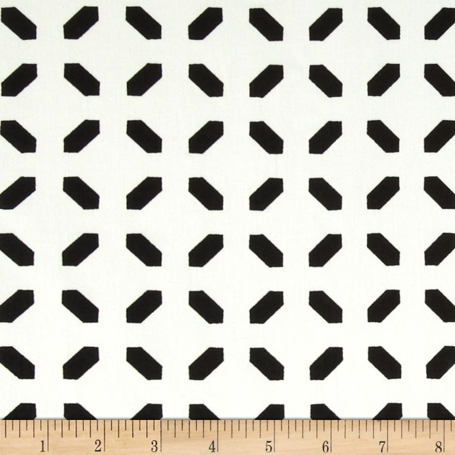 Harlequin Stretch Cotton Sateen Diamond Dash Black/White