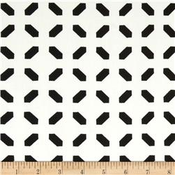 Harlequin Stretch Cotton Sateen Diamond Dash Black/White Fabric