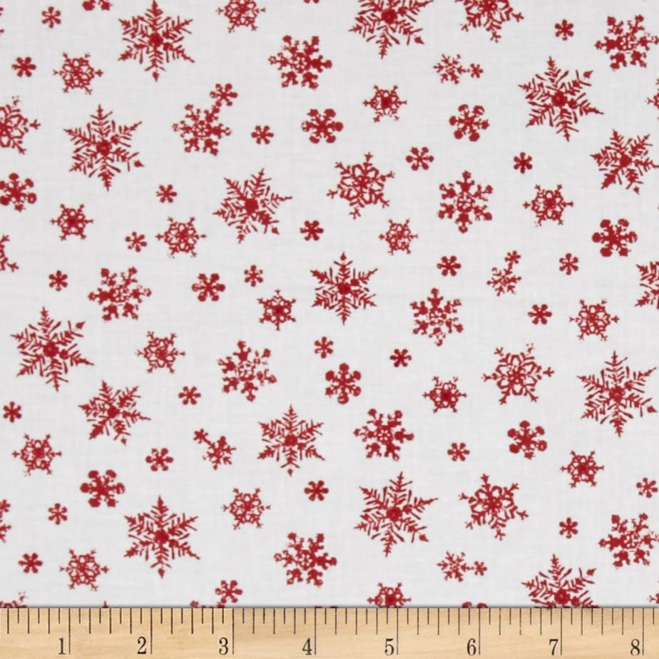 Holiday Elegance Snowflakes White
