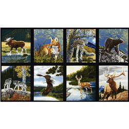 "Robert Kaufman Bringing Nature Home 24"" Panel Nature"