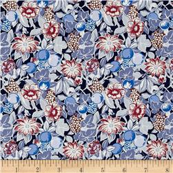 Liberty Of London Tana Lawn Bourdeaux Blue/Red