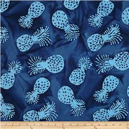 Indian Batik Kolina Fields Pineapple Navy