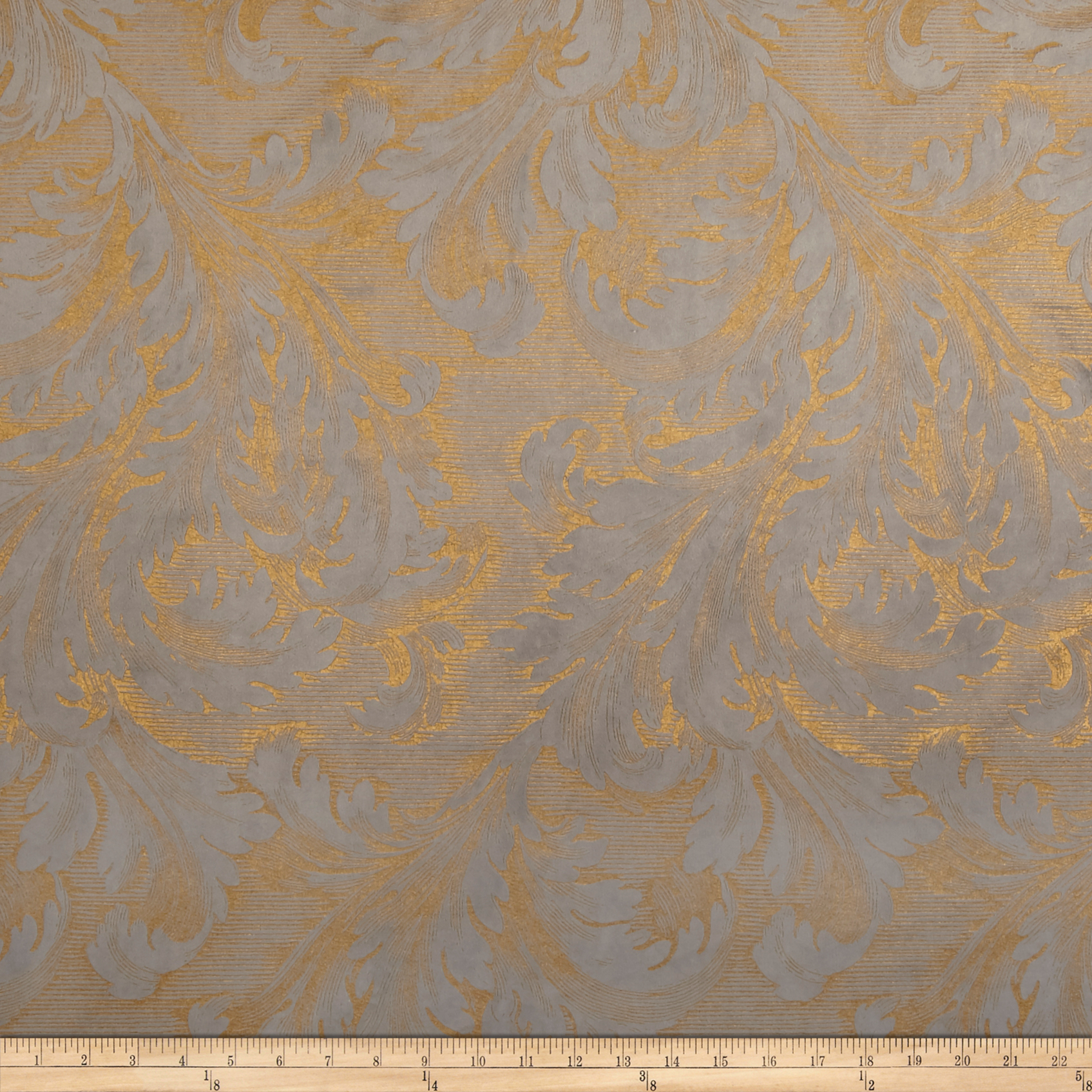 Waverly Scroll Call Velvet Glimmer Fabric by Waverly in USA