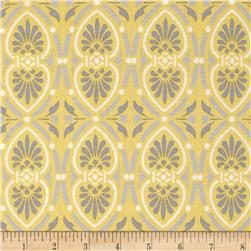 Moonflower Foulard Medallion Yellow