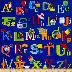 Fun with ABC's Alphabet Images Blue