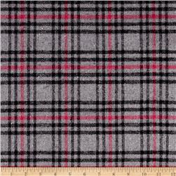 Yarn Dyed Flannel Plaid Black/Grey/Pink