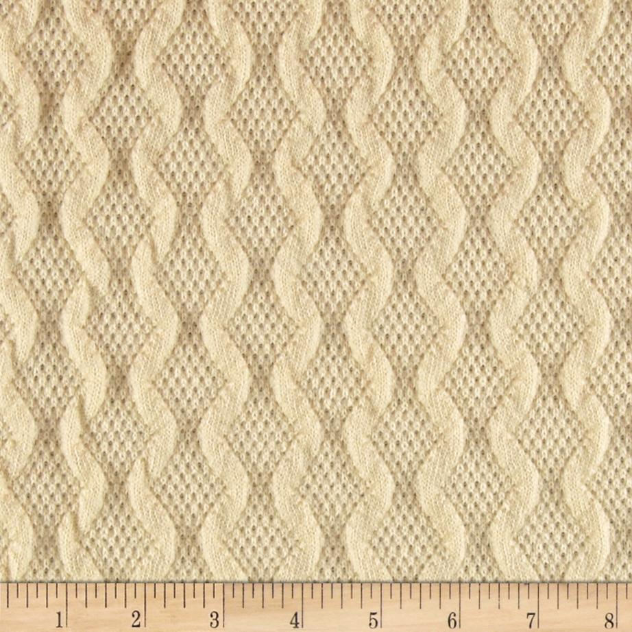 Knit Material : Scotland Sweater Knit Ivory - Discount Designer Fabric - Fabric.com