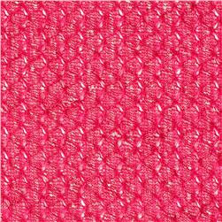 Island Open Weave Sweater Knit Hot Pink