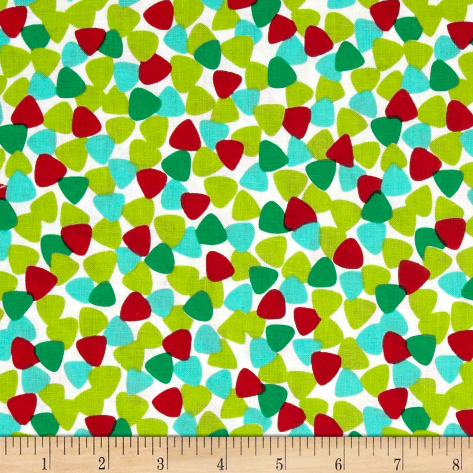 Michael Miller Tiny Guitar Picks Garland Multi Fabric
