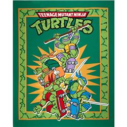 Teenage Mutant Ninja Turtles Retro Panel Green Fabric