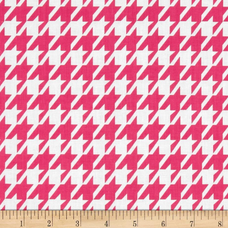 Remix Houndstooth Hot Pink
