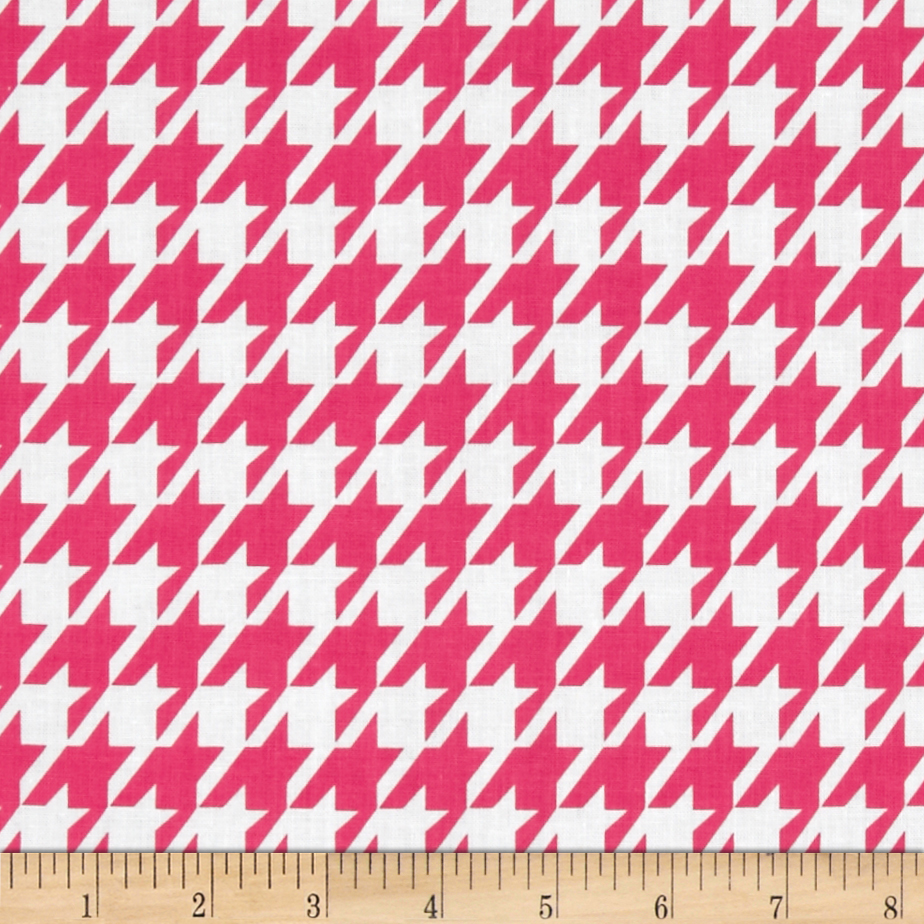 Remix Houndstooth Hot Pink Fabric