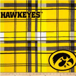 University of Iowa Fleece Plaid Yellow Fabric