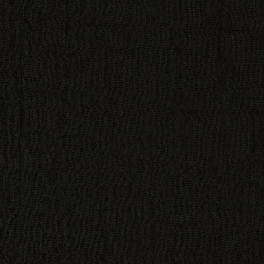 Bubble gauze black discount designer fabric for Black fabric