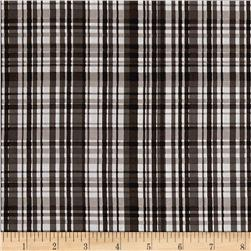 Poppy Garden Garden Plaid Black
