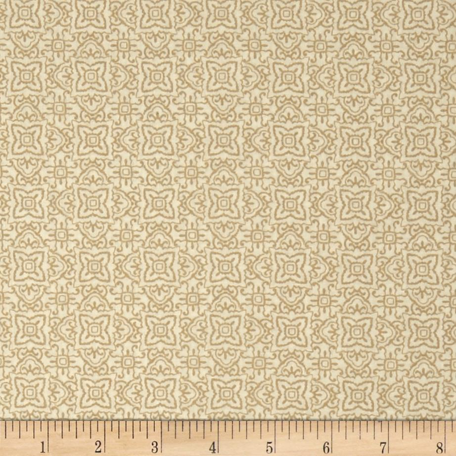 Whisper Print Geo Design Tonal Wheat